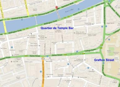 Carte dublin temple bar hapenny 1